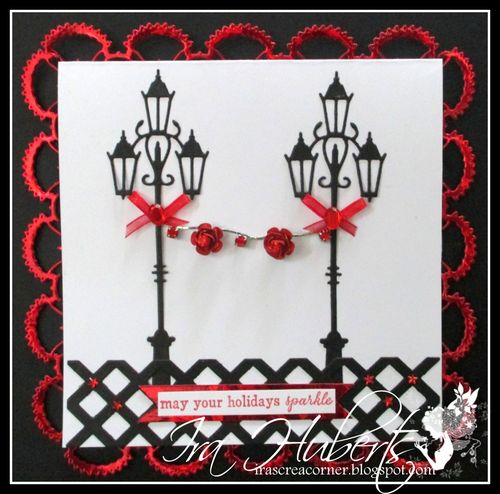Antique Lamppost Christmas Poppystamps December 2013 (1)