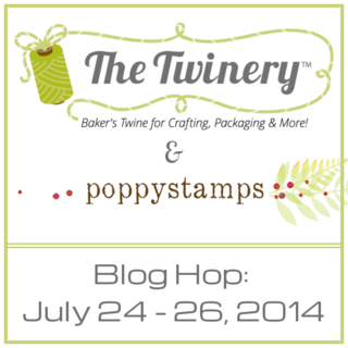 Twinery Blog Hop Badge - POPPYSTAMPS