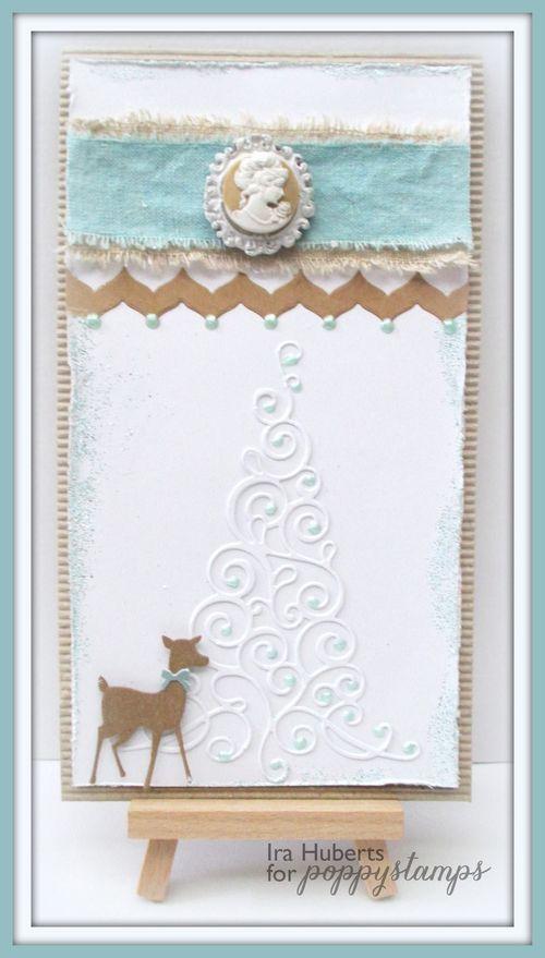 Poppystamps Christmas Card Deer September 2014 (1)