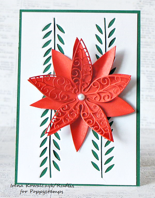 Small Luxe Poinsettia Outline