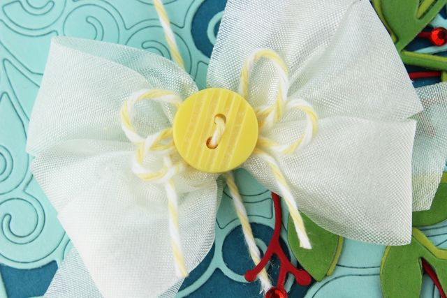 Yellow Ornament Bow