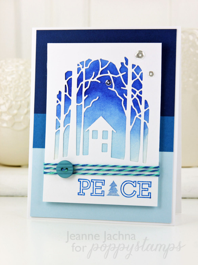 Poinsettia Peace Clear Stamp Set