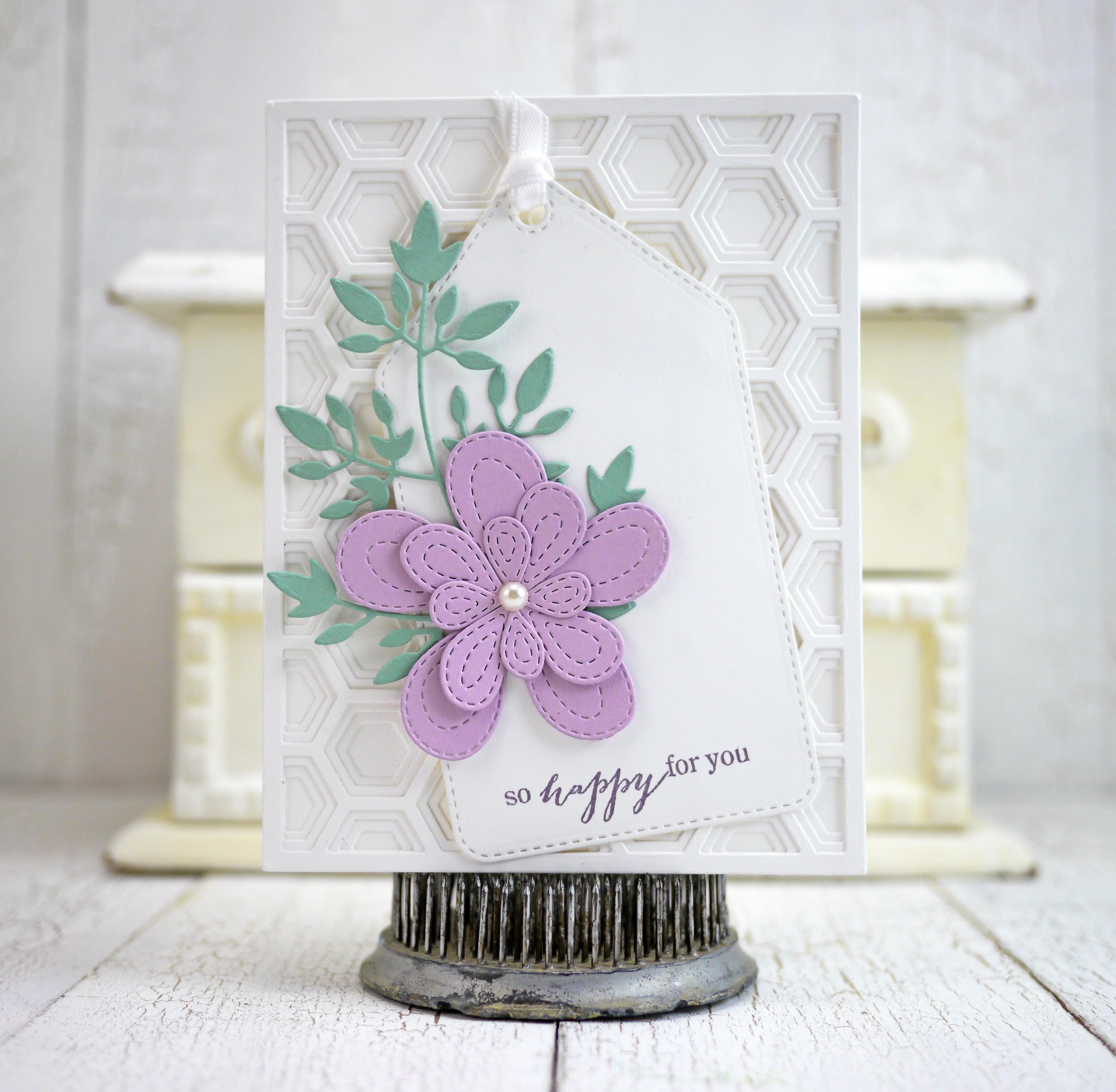 Stitched Bloom Trio