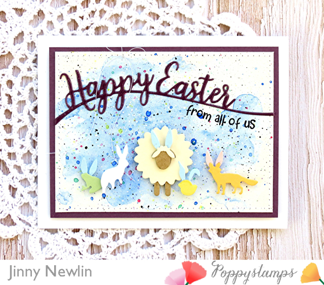 Poppystamps Happy Easter - JinnyNewlin