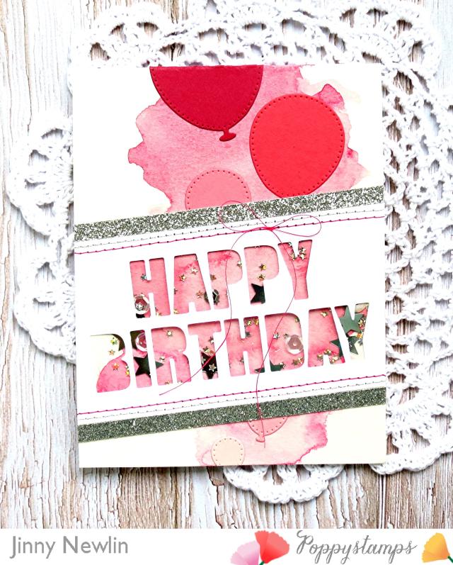 Poppy Pink Happy Birthday Bold - JinnyNewlin