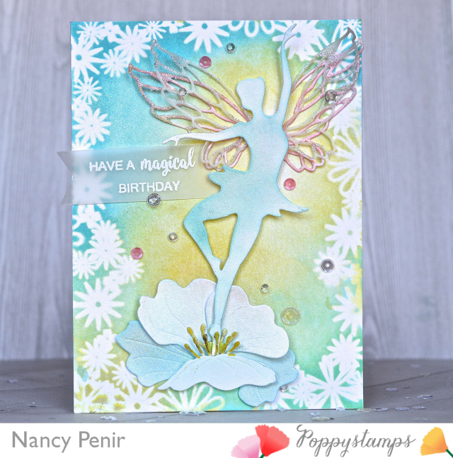 Fairy Greetings clear stamp set