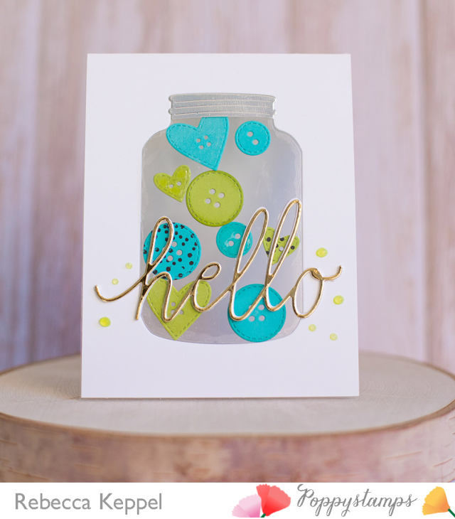Rk poppystamps hello card 5 ways to embelish die cuts