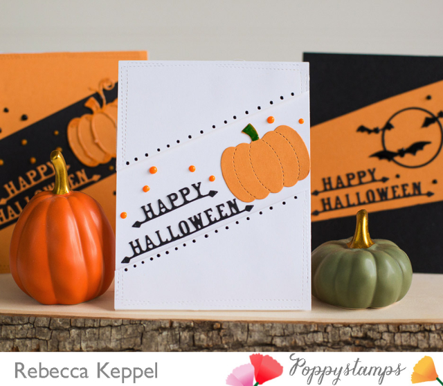 Poppystamps clean and simple halloween cards