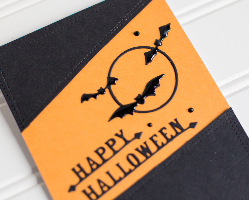 Rk poppystamps clean and simple last minute Halloween cards (1 of 5)