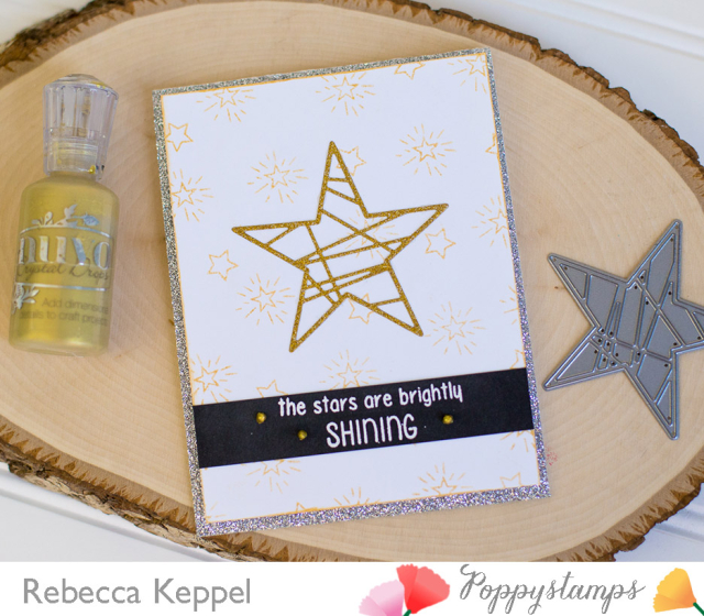 Poppystamps glitter star card 2