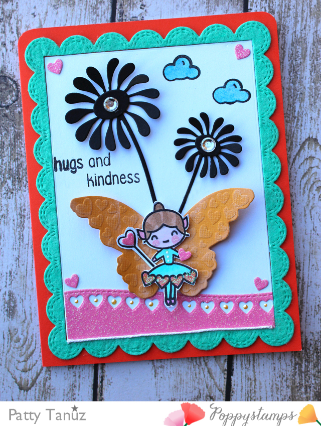 Valentine Fairies clear stamp set