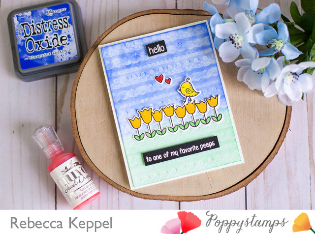Rebecca keppel poppystamps emboss with dies pierced borders die card