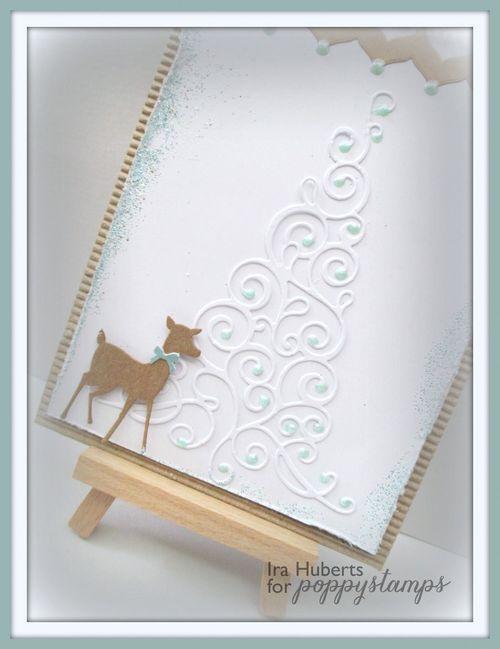 Poppystamps Christmas Card Deer September 2014 (2)