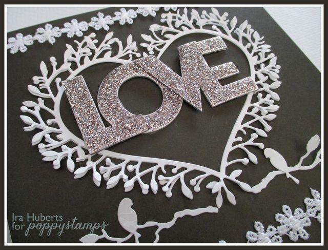 Poppystamps Love card February 2015