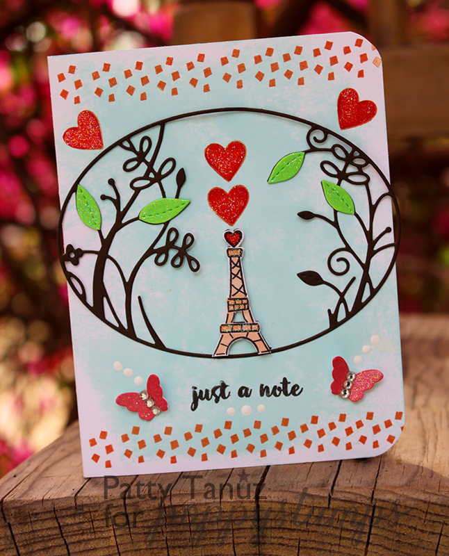 Ooh La La clear stamp set