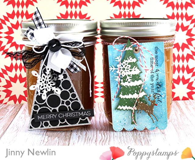 Poppystamps Apple Butter Gift Tags - JinnyNewlin