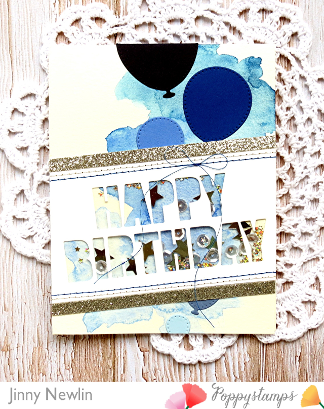Poppy Blue Happy Birthday Bold - JinnyNewlin