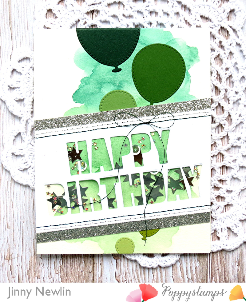 Poppy Green Happy Birthday Bold - JinnyNewlin