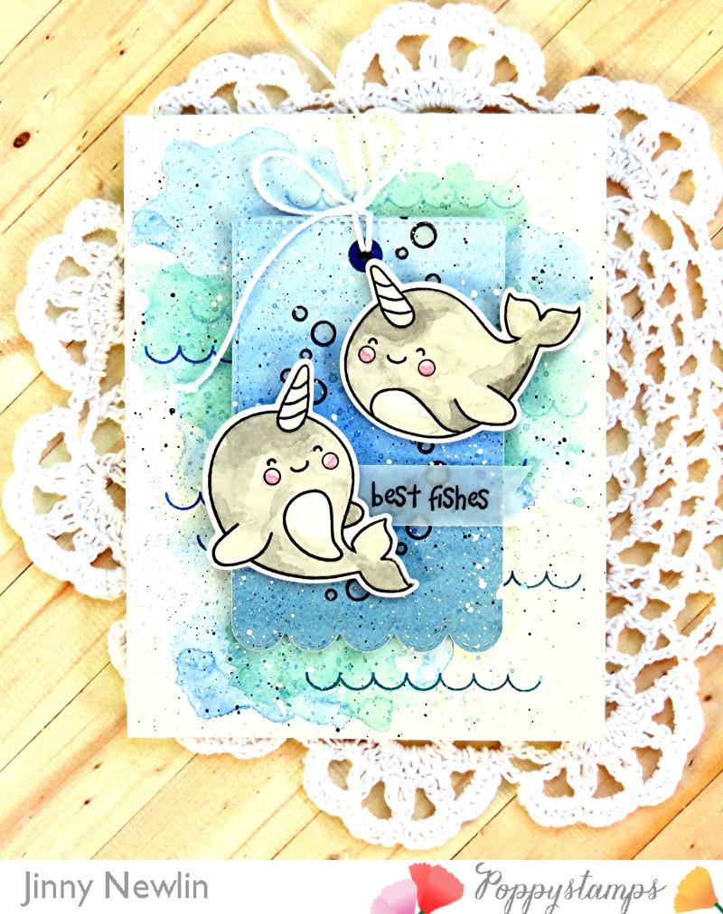 Poppystamps Best Fishes - JinnyNewlin