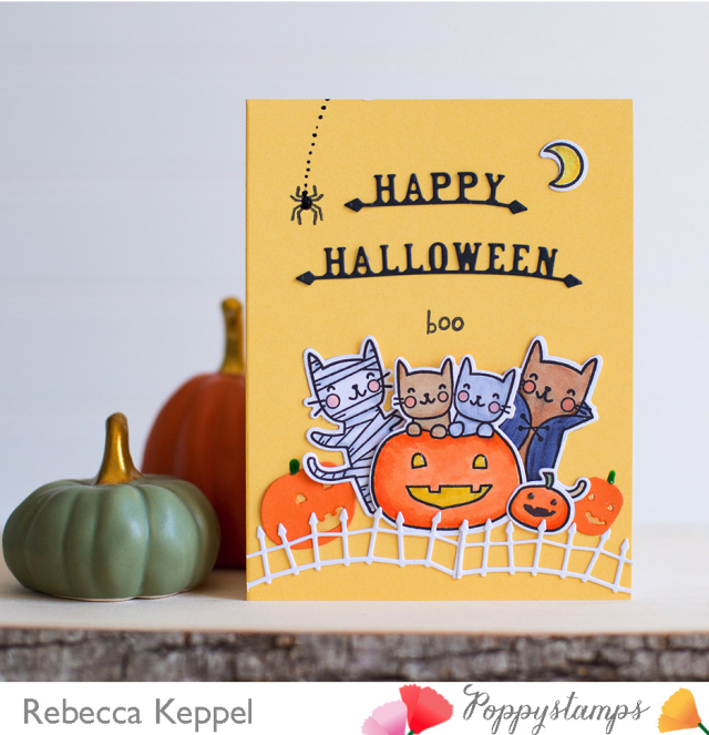 Halloween Costume Cats clear stamp set