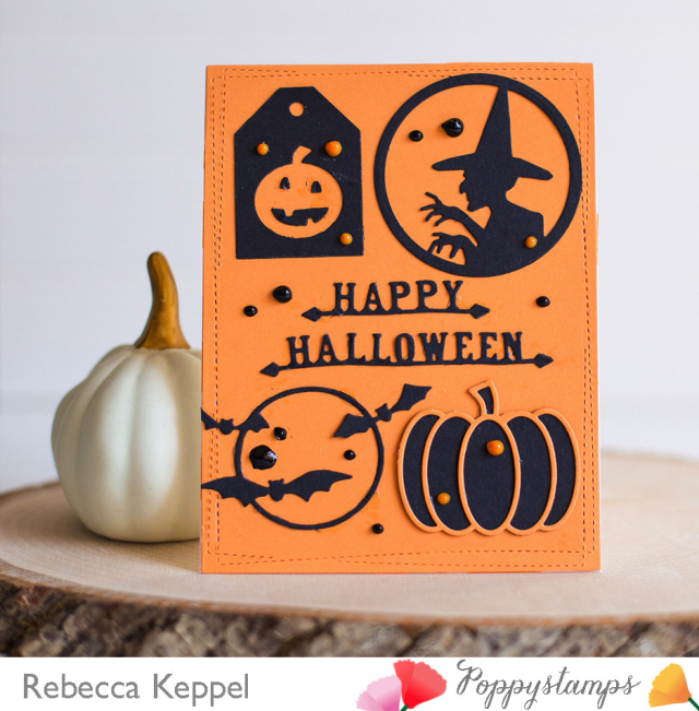 Rk poppystamps halloween silhouette images dies only card