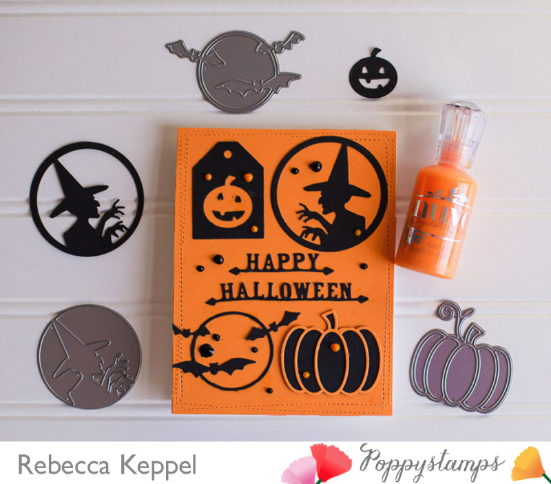Rk poppystamps halloween silhouette images dies only card2