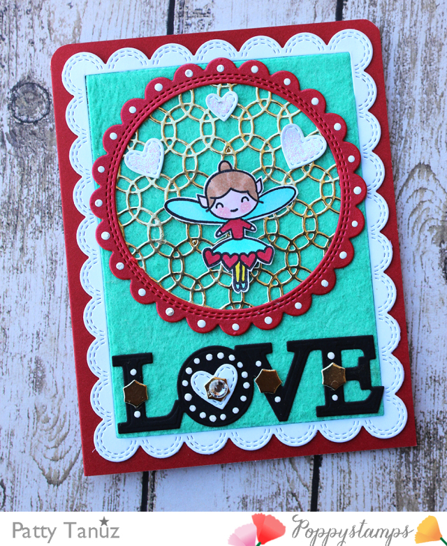 Love Stitch Circle Frame
