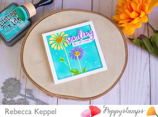 Rebecca keppel poppystamps delightful daisy 2