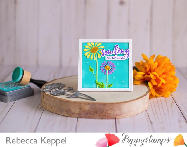 Rebecca keppel poppystamps delightful daisy
