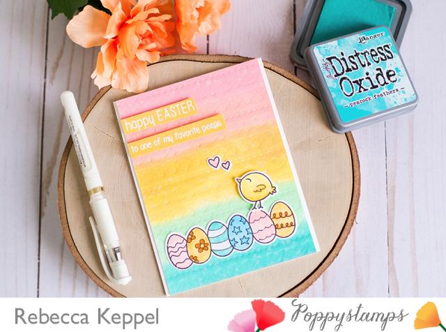 Rebecca keppel poppystamps pierced borders emboss with die card