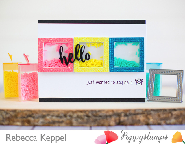 Rebecca keppel poppystamps april framed challenge
