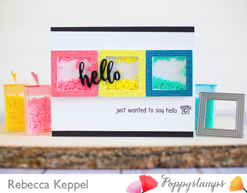 Rebecca keppel poppystamps april framed challenge