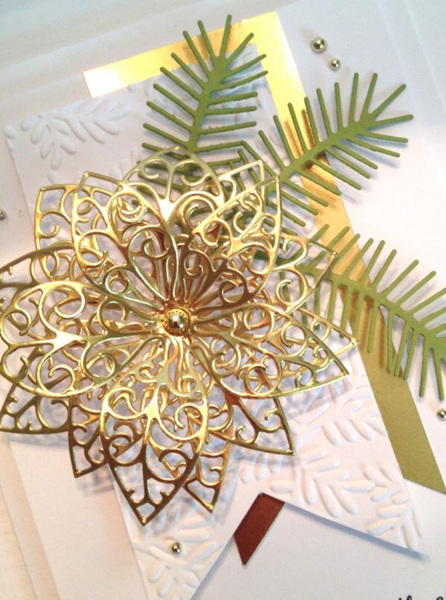 Gold Poinsettia Closeup