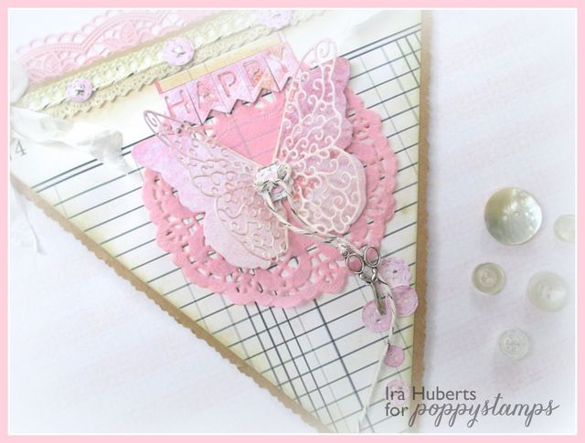 Poppystamps flag with butterfly and buttons January 2015 (2)