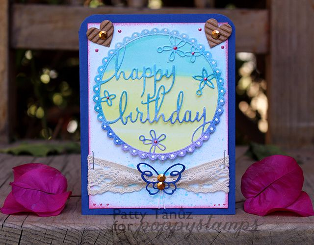 Happy Birthday Floral Frame