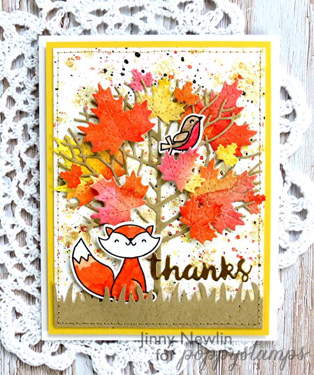 Poppy Fall Thanks - JinnyNewlin