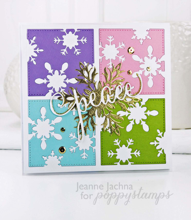 Stitched Snowflake Square