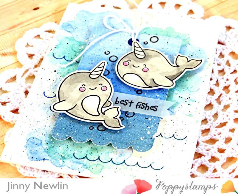 Poppystamps Best Fishes 2 - JinnyNewlin