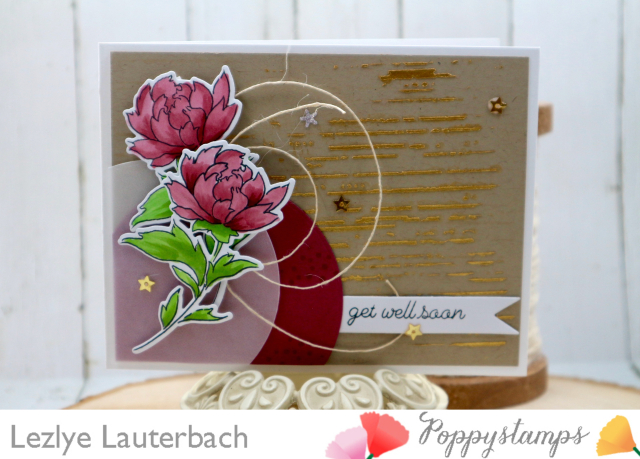 Peony Stems and Blossoms clear stamp set
