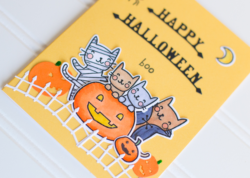 Rk poppystamps halloween card die cutting and stamping (3 of 3)