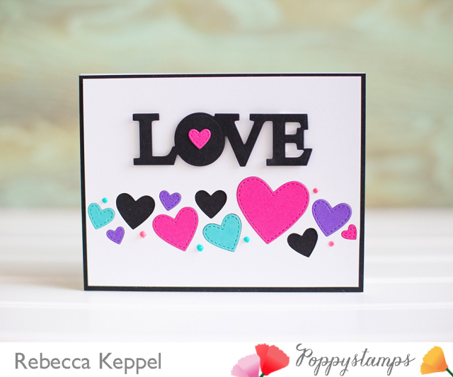 Splendid Stitched Heart Die Cut INlay