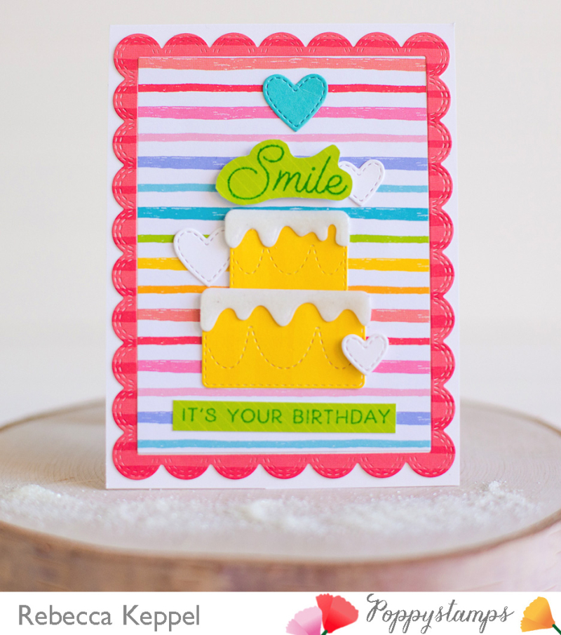 Rebecca keppel poppystamps layered cake faux frosting 2