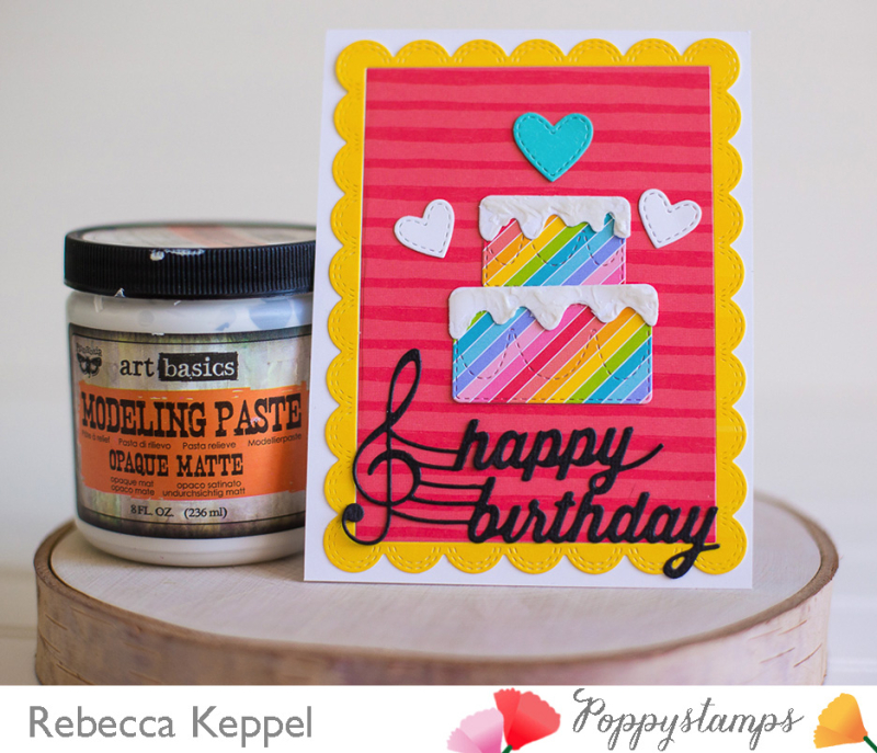 Rebecca keppel poppystamps layered birthday cake faux frosting card3