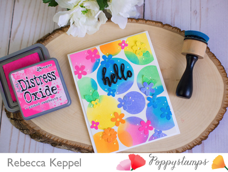 Rebecca Keppel Poppystamps Blooming Border Distress Oxide Ink1