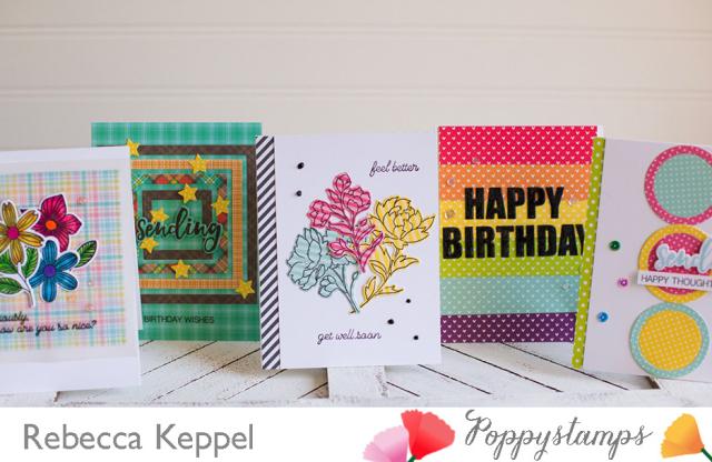 Rebecca keppel poppystamps patterned paper challenge