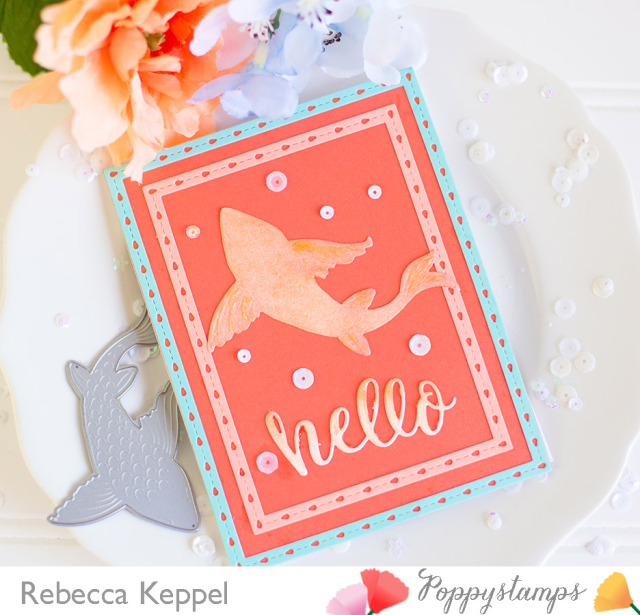 Rebecca keppel poppystamps Large Lovely Koi Copic Colored Die Cuts card 4