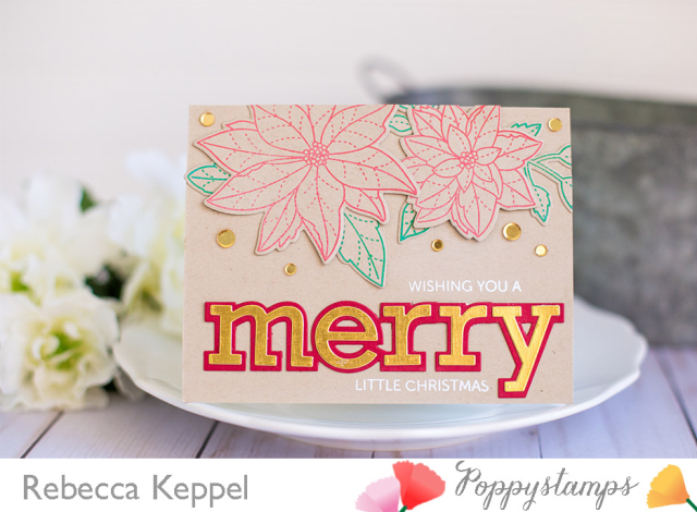 Rebecca keppel poppystamps kraft christmas card