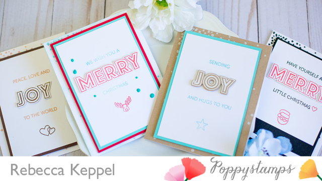 Rebecca keppel poppystamps clean and simple cards with non traditional color combos cards 1