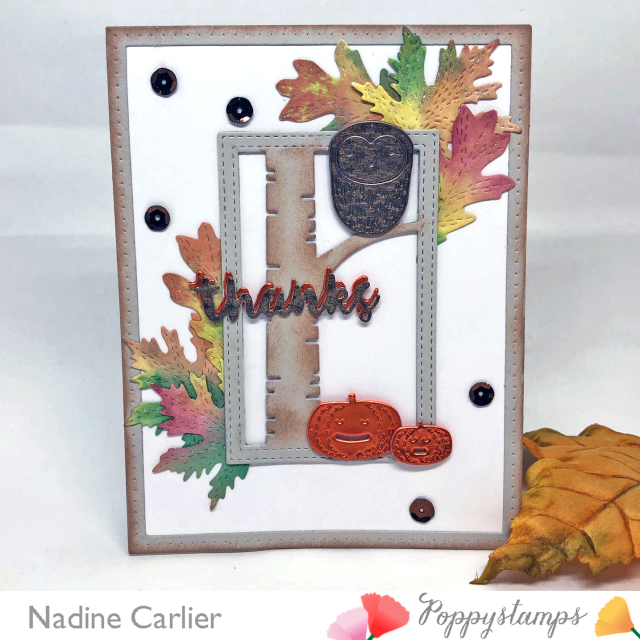 Fall Thanks Card by Nadine Carlier