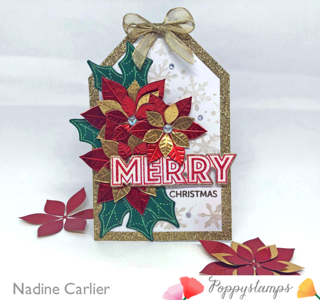 Christmas Tag Card by Nadine Carlier for Poppystamps